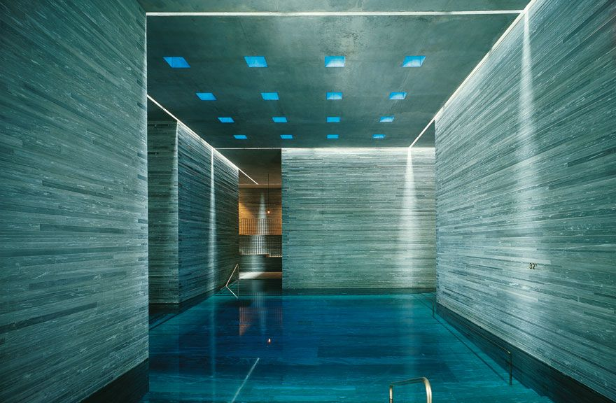Spa bucket list hotel therme vals vals switzerland for Design hotel vals